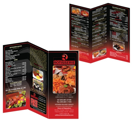 Will morton's restaurant menu trifold