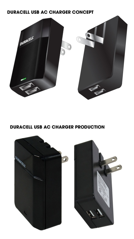 Duracell AC Charger Product Design